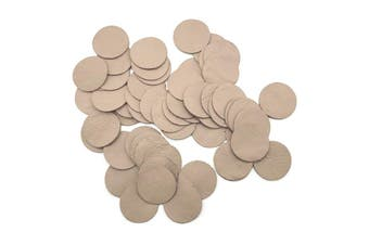 50pcs x 25mm Round Beige Nappa Lambskin Leather Piece, Remnant Skin, Crafts, Jewellery Making, Embroidery, Sewing