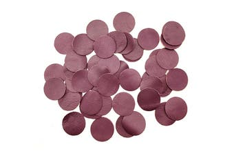 50pcs x 25mm Round Cherry Nappa Lambskin Leather Piece, Remnant Skin, Crafts, Jewellery Making, Embroidery, Sewing