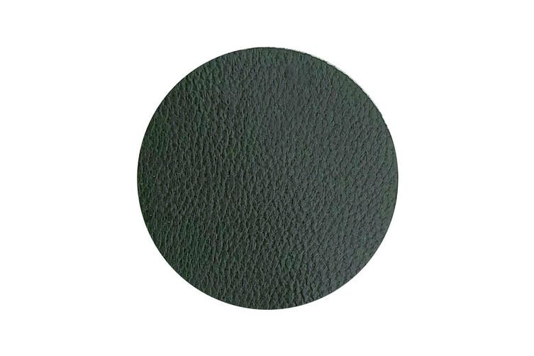 50pcs x 25mm Round Green Nappa Lambskin Leather Piece, Remnant Skin, Crafts, Jewellery Making, Embroidery, Sewing