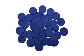 50pcs x 25mm Round Navy Blue Nappa Lambskin Leather Piece, Remnant Skin, Crafts, Jewellery Making, Embroidery, Sewing