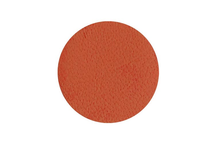 50pcs x 25mm Round Orange Nappa Lambskin Leather Piece, Remnant Skin, Crafts, Jewellery Making, Embroidery, Sewing