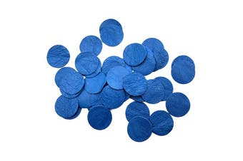 50pcs x 25mm Round Royal Blue Nappa Lambskin Leather Piece, Remnant Skin, Crafts, Jewellery Making, Embroidery, Sewing