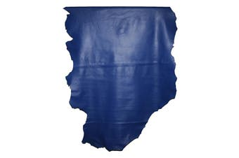12sqft - 12.9sqft AAA Top Grade Royal Blue Nappa Lambskin Leather Hide