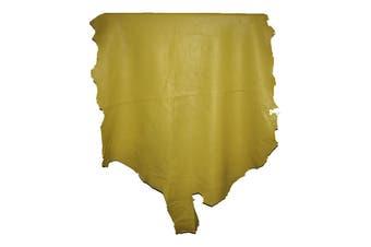 7sqft - 7.9sqft AAA Top Grade Yellow Nappa Lambskin Leather Hide