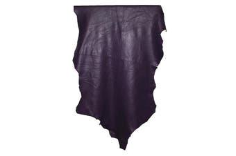14sqft - 14.9sqft AAA Top Grade Purple Nappa Lambskin Leather Hide