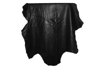 8sqft - 8.9sqft AAA Top Grade Black Nappa Lambskin Leather Hide