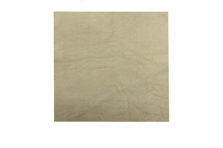 15cm x 15cm Beige Square Lambskin Leather Piece, Remnant Skin, Crafts, Jewellery Making, Embroidery, Sewing