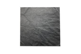 15cm x 15cm Black Perforated Square Lambskin Leather Piece, Remnant Skin, Crafts, Jewellery Making, Embroidery, Sewing