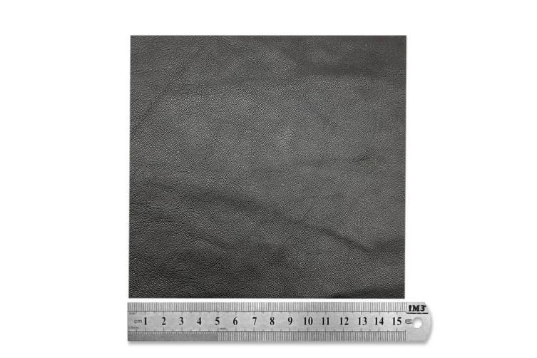 15cm x 15cm Brown Square Lambskin Leather Piece, Remnant Skin, Crafts, Jewellery Making, Embroidery, Sewing