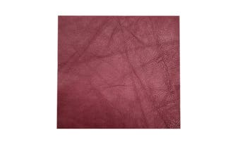 15cm x 15cm Cherry Square Lambskin Leather Piece, Remnant Skin, Crafts, Jewellery Making, Embroidery, Sewing