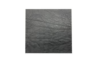 15cm x 15cm Dark Grey Square Lambskin Leather Piece, Remnant Skin, Crafts, Jewellery Making, Embroidery, Sewing
