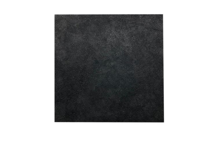 15cm x 15cm Black Square Split Leather Suede Piece, Remnant Skin, Crafts, Jewellery Making, Embroidery, Sewing