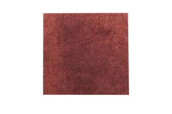 15cm x 15cm Mid Burgandy Square Split Leather Suede Piece, Remnant Skin, Crafts, Jewellery Making, Embroidery, Sewing