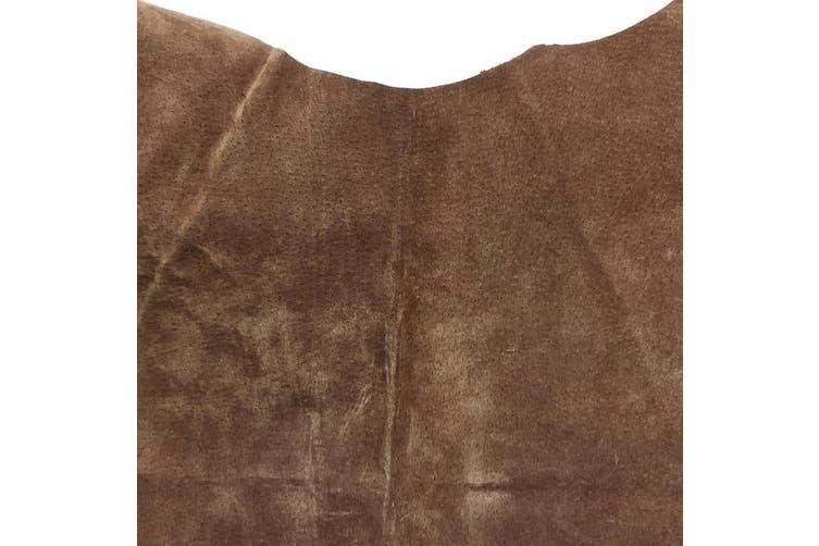 9sqft - 10sqft Top Grade Cognac Colour Suede Pig Hide
