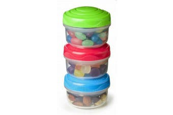 Sistema Mini Bites To Go Containers, Set of 3 Multicoloured