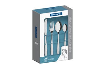 Tramontina Stainless Steel 24 Piece Cutlery Set