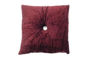 Country Club Red Opulence Button Cushion, 43 x 43cm