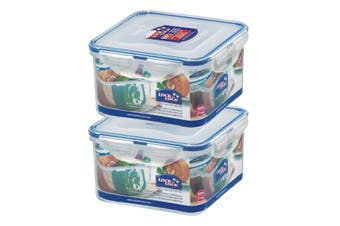 Lock and Lock 1.2L Square Container, Set of 2