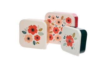 Puckator Poppy Fields Set of 3 Lunch Boxes