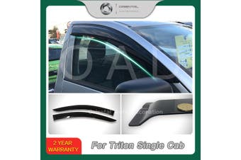 Injection weathershields weather shields window visor For Mitsubishi Triton Single Cab 15-20 model SJ