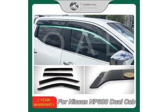 Injection weathershields weather shields window visor For Nissan Navara NP300 D23 model SJ