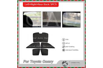 4 plus 1 large piece rear back window sunscreen sun shade for Toyota Camry 12-15 #X