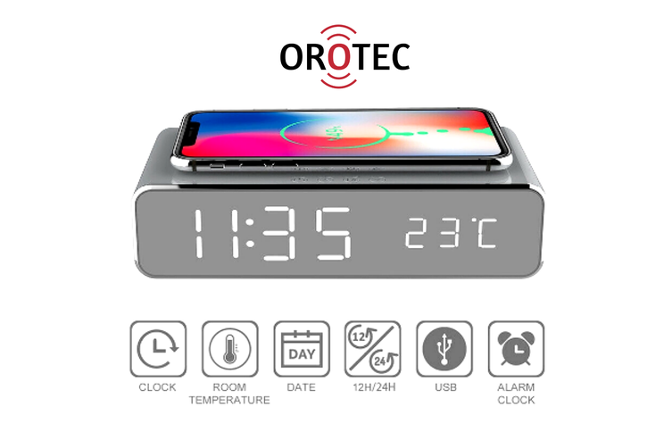 Wireless Charger Alarm Clock