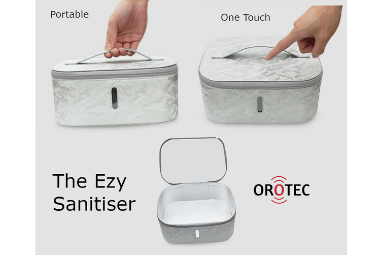 Ezy Sanitiser Unit with Fast Charge Wireless Charger