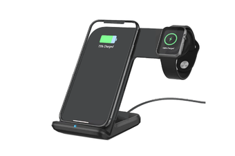 Orotec NexGen Dual Wireless Charging Dock Made for Apple (including iWatch) BLACK