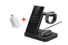Orotec 4-in-1 Multi Samsung Wireless Charging Station with 18W QUALCOMM Wall Adapter