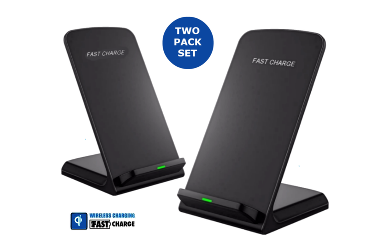 2-Pack Orotec 10W Fastcharge Wireless Charging Stand