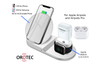 3-in-1 Fast Charge Wireless Charger Station (WHITE)