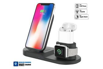 3-in-1 Fast Charge Wireless Charger Stand (Square)