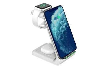 Orotec NextGen Ultra Apple 3-in-1 Wireless Charger (Apple Airpods/iWatch/Smartphone) WHITE