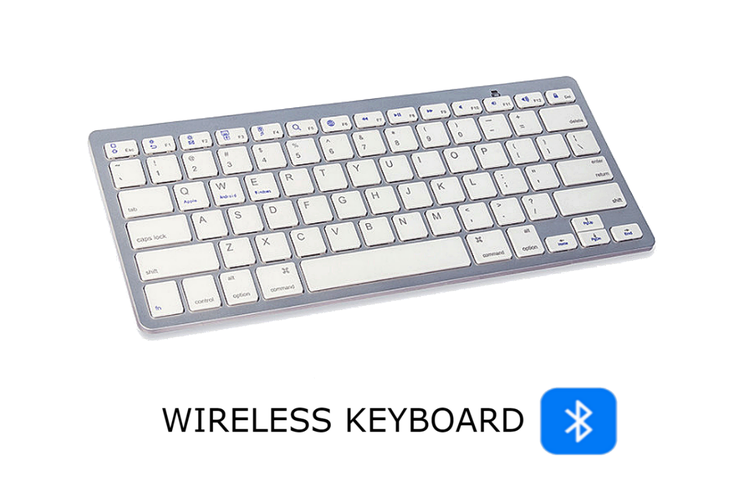 Slim Portable Wireless Keyboard (Bluetooth for Apple Mac, Windows and Android