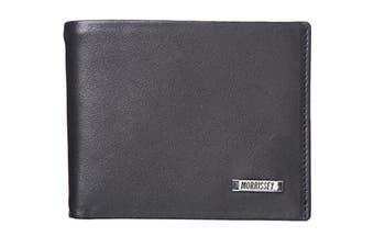 Morrissey Italian Leather Mens Bi-Fold Wallet (MO10346)-Black