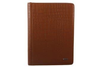 Morrissey Croc Embossed Italian Leather Document Folio (MO2609)-COGN