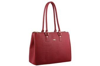 Morrissey Italian Structured Leather Tote Handbag (MO2861)-Red