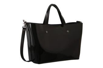 Morrissey Patent Leather Tote Handbag (MO2867)-Black