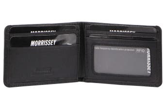 Morrissey Italian Leather Mens Wallet (MO3073)-Navy