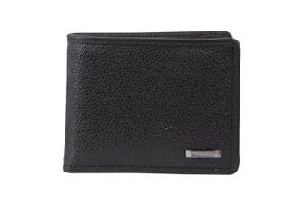 Morrissey Italian Leather Tri-Fold Mens Wallet (MO3074)-Black