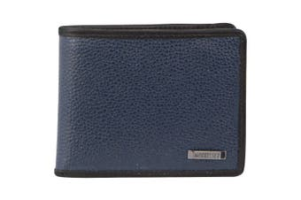 Morrissey Italian Leather Tri-Fold Mens Wallet (MO3074)-Navy