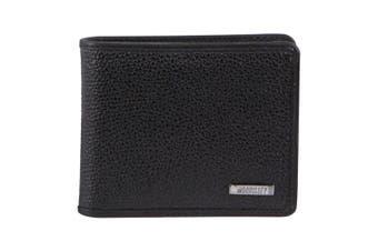 Morrissey Italian Leather Tri-Fold Mens Wallet (MO3075)-Black