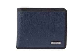 Morrissey Italian Leather Tri-Fold Mens Wallet (MO3075)-Navy