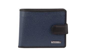 Morrissey Italian Leather Tri-Fold Mens Wallet (MO3076)-Navy