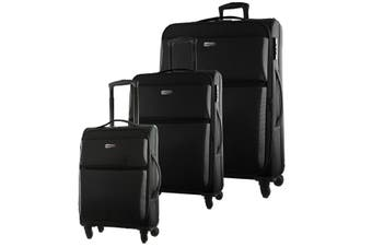Pierre Cardin Soft Luggage Case SET OF 3 (PC2790)-Black