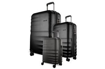 Pierre Cardin Hard Luggage - Set of 3 (PC2881)-Black