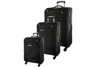 Pierre Cardin Soft Luggage Case - SET OF 3 (PC2810)-Black