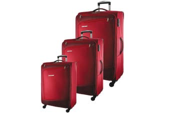 Pierre Cardin Soft Luggage Case - SET OF 3 (PC2810)-Red