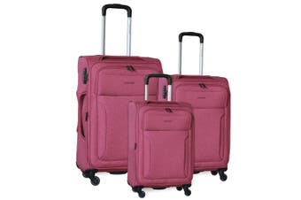 Pierre Cardin Soft Luggage Case - SET OF 3 (PC2823)-ROS